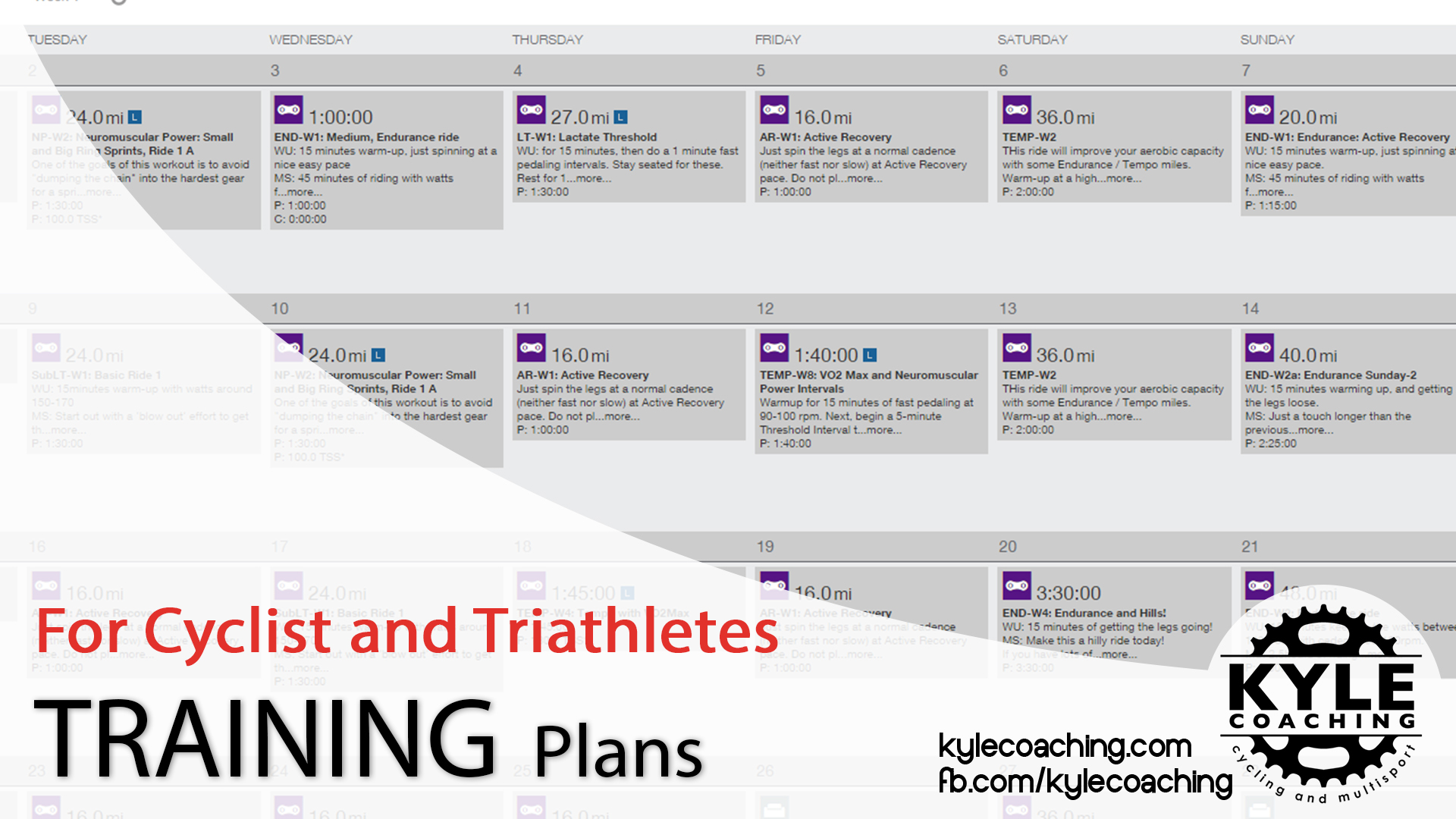 KyleCoaching training plans